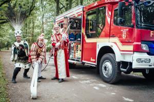 Dinklager Karneval-Dreigestirn meets Feuerwehr