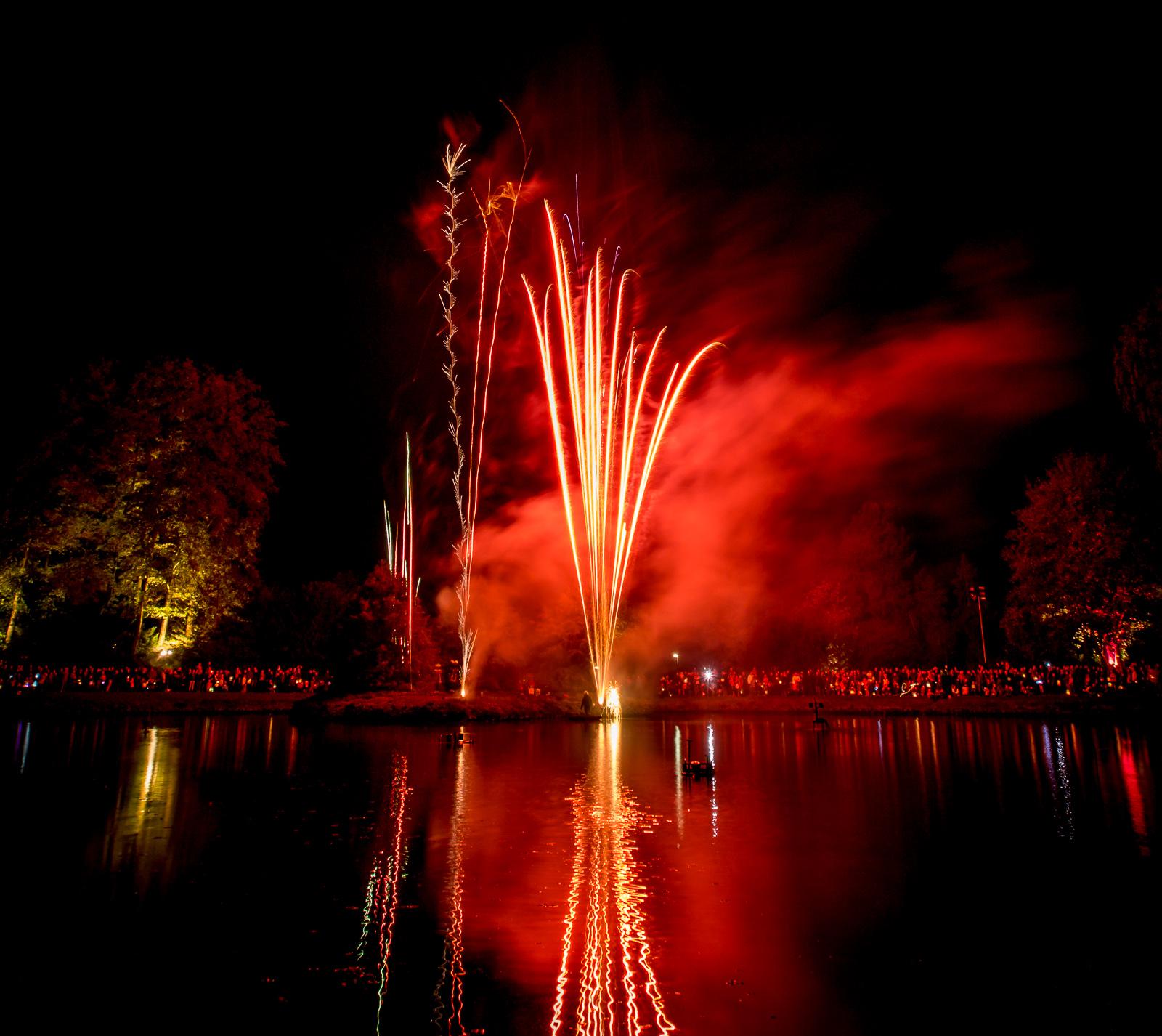 Lichterfest im Stadtpark Lohne